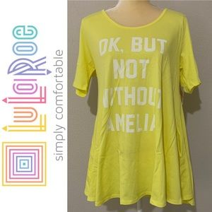 LuLaRoe Ok But Not Without Amelia Perfect T Sz M